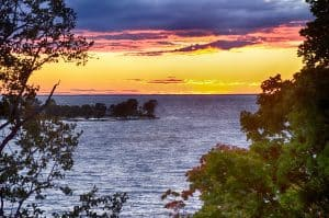 Sunset from Egg Cottage Egg Harbor, Door County